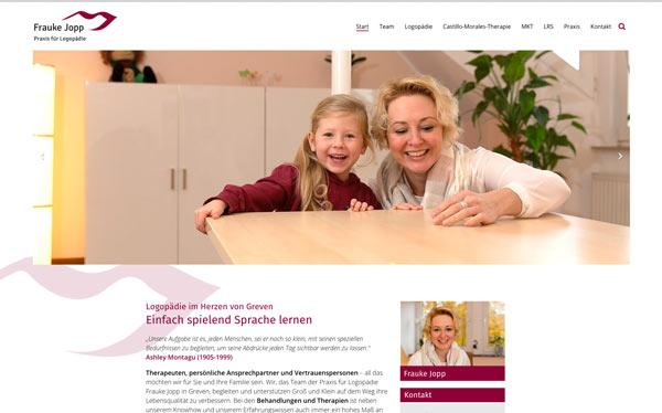 Fotos für Webseiten - Frauke Jopp Greven Logopädie