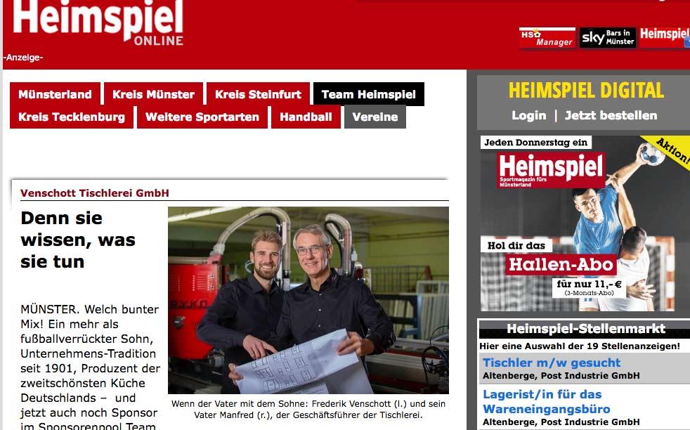 Fensterbauer Venschott und Fotograf Münster