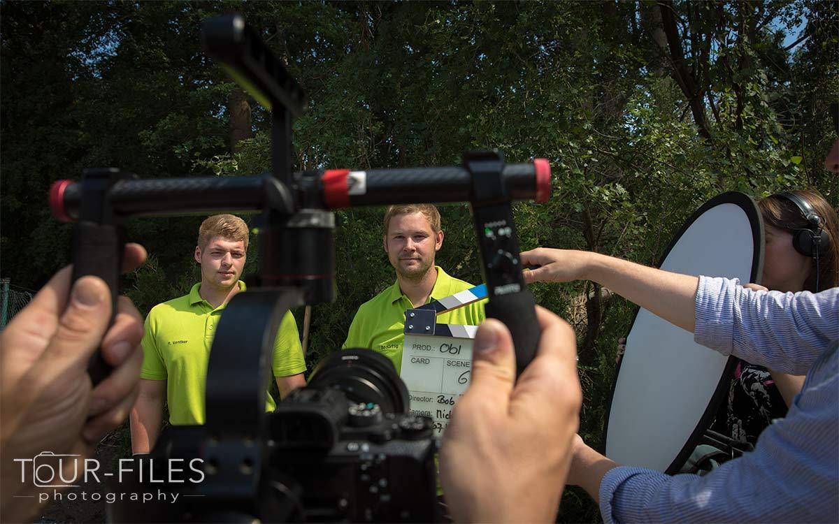 Dreharbeiten für OBI - Fotograf Münster