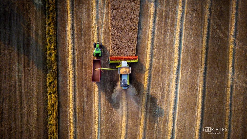 Drohne Mähdrescher