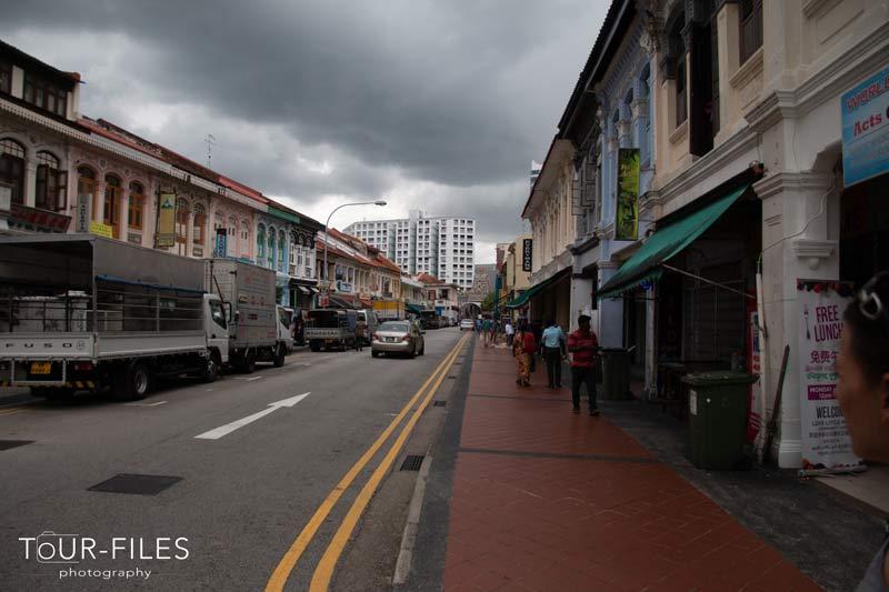 Strasse in Singapur
