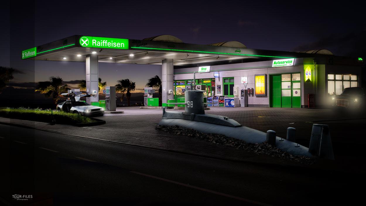Bildbearbeitung an Tankstelle