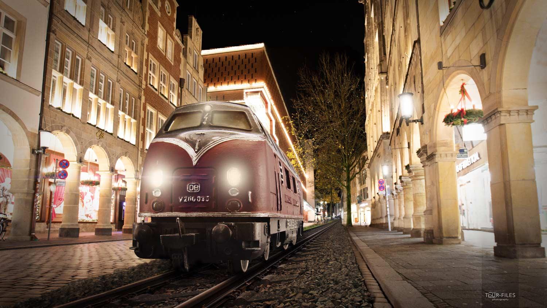 Bildmontage, Eisenbahn